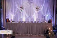 Head table uplighting example at a Colorado wedding